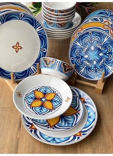 ROSSEV Yemek Takımı Toscana 24 Parça 6 Kişilik Renkli